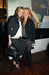 Left to right, KIM HERSOV and AMANDA ELIASCH at a party to celebrate the publication of 'The year of Eating Dangerously' by Tom Parker Bowles held at Kensington Place, 201 Kensington Church Street, London on 12th october 2006.<br /><br />NON EXCLUSIVE - WORLD RIGHTS