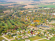Aerial view of Spring Green, Wisconsin.