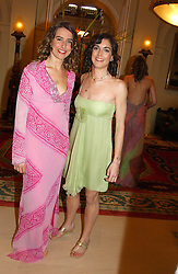 Left to right, SOPHIA BOLTON and GEORGIE McECHERN at a fashion show of Sybil Stanislaus Summer 2005 collection with jewellery by Philippa Holland held at The Lanesborough Hotel, Hyde Park Corner, London on 13th April 2005.<br /><br />NON EXCLUSIVE - WORLD RIGHTS