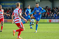 AFC Wimbledon defender Terell Thomas (6) controlling the ball during the EFL Sky Bet League 1 match between AFC Wimbledon and Doncaster Rovers at the Cherry Red Records Stadium, Kingston, England on 9 March 2019.