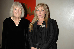Left to right,poet VICKI FEAVER and actress HELEN LEDERER at the 2007 Costa Book Awards held at The Intercontinental Hotel, One Hamilton Place, London W1 on 22nd January 2008.<br /><br />NON EXCLUSIVE - WORLD RIGHTS (EMBARGOED FOR PUBLICATION IN UK MAGAZINES UNTIL 1 MONTH AFTER CREATE DATE AND TIME) www.donfeatures.com  +44 (0) 7092 235465