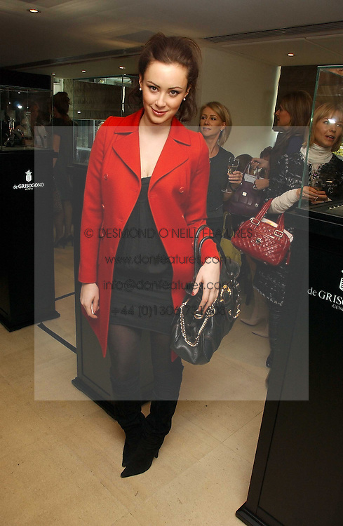 CAMILLA AL FAYED at a lunch hosted by Fawaz Gruosi to celebrate the launch of De Grisogono's latest watch 'Be Eight' held at Nobu, 19 Old Park Lane, London W1 on 30th November 2006.<br /><br />NON EXCLUSIVE - WORLD RIGHTS