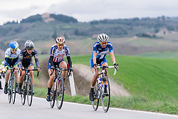 Lead group wait for one to make their move - 2016 Strade Bianche - Elite Women, a 121km road race from Siena to Piazza del Campo on March 5, 2016 in Tuscany, Italy.