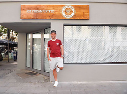 """Lukas Podolski releases a photo on Instagram with the following caption: """"Ice, ice, Poldi - morgen 18 Uhr geht's los. Kommt alle ins Belgische Viertel zur Er\u00f6ffnung von Ice Cream United \ud83d\udc4d\ud83c\udffb @icecreamunited \ud83c\udf66"""". Photo Credit: Instagram *** No USA Distribution *** For Editorial Use Only *** Not to be Published in Books or Photo Books ***  Please note: Fees charged by the agency are for the agency's services only, and do not, nor are they intended to, convey to the user any ownership of Copyright or License in the material. The agency does not claim any ownership including but not limited to Copyright or License in the attached material. By publishing this material you expressly agree to indemnify and to hold the agency and its directors, shareholders and employees harmless from any loss, claims, damages, demands, expenses (including legal fees), or any causes of action or allegation against the agency arising out of or connected in any way with publication of the material."""