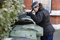 © Licensed to London News Pictures. 09/03/2021. London, UK. Police search roads and gardens around the Clapham area as officers continue to look for missing 33 year old woman Sarah Everard. Police are concerned for the safety of Ms Everard who has been missing for six days after leaving a friend's house in Leathwaite Road, Clapham, London. She is thought to have walked across Clapham Common, and was due to arrive home in Brixton 50 minutes later. Photo credit: Peter Macdiarmid/LNP