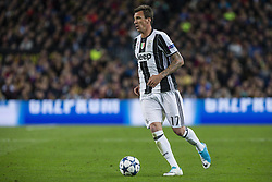 April 19, 2017 - Barcelona, Spain - Mario Mandzukic of Juventus FC during the UEFA Champions League Quarter Final second leg match between FC Barcelona and Juventus at Camp Nou Stadium on April 19, 2017 in Barcelona, Spain. (Credit Image: © NurPhoto via ZUMA Press)