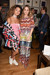 Left to right, Rosie Fortescue and Ella Eyre at the Rosie Fortescue Jewellery Launch, Brown's Hotel London England. 10 May 2017.<br /> Photo by Dominic O'Neill/SilverHub 0203 174 1069 sales@silverhubmedia.com