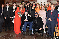 EXCLUSIVE: **WEB EMBARGO UNTIL 7pm GMT 26th Nov** Pogues singer, Shane McGowan gets married to Victoria Mary Clarke at Copenhagen City Hall. Johnny Depp was one of the guest at the wedding. 26 Nov 2018 Pictured: Shane McGowan and Victoria Mary Clark, Johnny Depp. Photo credit: Aller/MEGA TheMegaAgency.com +1 888 505 6342