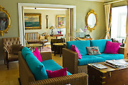 The elegant drawing room at traditional The Quay House Hotel, Clifden, County Galway, Ireland