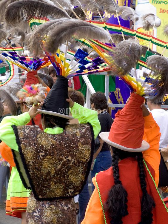 performance of the Suri Sikuris a Bolivian dance