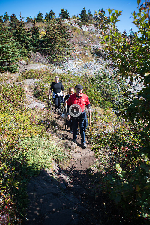One of the many hiking trails on rugged Monhegan Island.