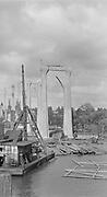 9969-0208. Arches of the St. Johns Bridge. June 1930.
