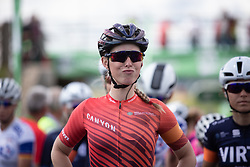 Alice Barnes (GBR) of CANYON//SRAM Racing is ready for Stage 2 of 2019 OVO Women's Tour, a 62.5 km road race starting and finishing in the Kent Cyclopark in Gravesend, United Kingdom on June 11, 2019. Photo by Balint Hamvas/velofocus.com