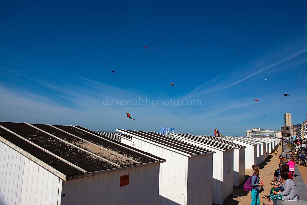 Beach huts, Ostend, coastal city in Belgium