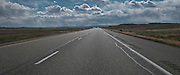 Interstate 70, US 6, US 50, and US 191 reach ahead to the horizon in central Utah panorama
