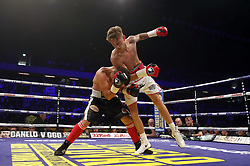 Archie Sharp (right) and Imre Nagy in the International Super-Featherweight Contest at the Copper Box Arena, London. PRESS ASSOCIATION Photo. Picture date: Saturday September 16, 2017. See PA story BOXING London. Photo credit should read: Scott Heavey/PA Wire