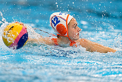 Brigitte Sleeking #12 of Netherlands in action during the friendly match Netherlands vs USA on February 19, 2020 in Amerena Amersfoort.