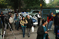 09/05/04 - DIEGO MARADONA WAS TRASLADED AT A CLINIC TO PEOPLE WHO ABUSED OF DRUGS - Buenos Aires - Argentina. <br /> HERE THE POLICE CLOSE THE STREET OF THE CLINIC<br /> ©A.K./Argenpress.com