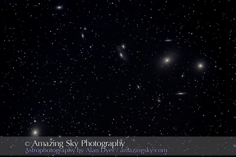 Stack of four 10-minute exposures with Canon 20Da at ISO400 and with 5-inch AP scope at f/4.5. Taken April 25.