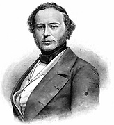 John Ericsson (1803-1889), Swedish-born American engineer at the time of his arrival in America in 1839. Wood engraving