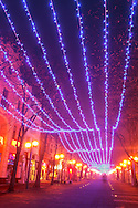 The central street of Burgas in Cristmas decorations
