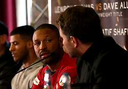 Kell Brook (centre) during the press conference at Sheffield Town Hall.