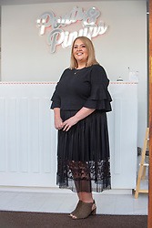 Stacey Whittaker, a mum-of-two who has set up her own beauty salon at Pouts & Pinups, Kirkcaldy. For London Money Desk.