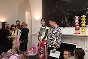 VALERIA NAPOLEONE; JOE SCOTLAND, Valeria and Gregorio Napoleone and Joe Scotland host a dinner at therir home in Kensington  in celebration of Sol  Calero's commission at Studio Voltaire.  London. 13 October 2015