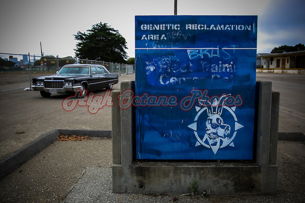 Genetic Reclamation Area sign on Treasure Island, California