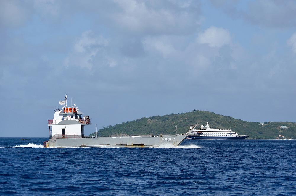 Car ferry and cruise ship, Virgin Islands.