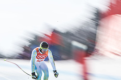 February 15, 2018 - Jeongseon, Gangwon, South Korea - Igor Zakurdaev of Kazakhstan competing in mens downhill at Jeongseon Alpine Centre at Jeongseon , South Korea on February 15, 2018. (Credit Image: © Ulrik Pedersen/NurPhoto via ZUMA Press)