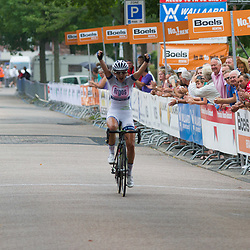 Boels Rental Ladiestour 2013 Papendrecht Elke Gebhart wins stage after a 105km breakaway with Vera Koedooder