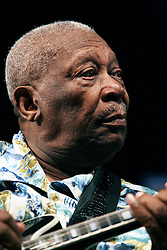 02 May 2010. New Orleans, Louisiana. <br /> The New Orleans Jazz and Heritage Festival. The 'King of the Blues.' Legendary musician BB King.<br /> Photo credit©; Charlie Varley/varleypix.com