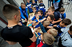 Igor Vekic of Bravo with young fans after the football match between NK Domzale and NK Aluminij in 36th Round of Prva liga Telekom Slovenije 2020/21, on May 22, 2021 in Sportni park Domzale, Slovenia. Photo by Vid Ponikvar / Sportida