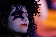 Darts fan dressed as Paul Stanley of Kiss during the World Darts Championships 2018 at Alexandra Palace, London, United Kingdom on 29 December 2018.