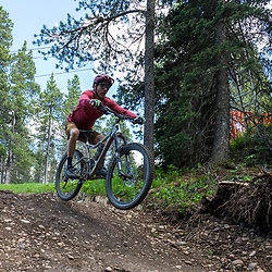 Mountain Biking the new blue flow trail in Cypress Hills Provincial Park, Elkwater, AB, Canada