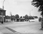 11/06/1963<br /> 06/11/1963<br /> 11 June 1963<br /> Exterior Merrion Service Station (Esso), Merrion Road, Dublin.