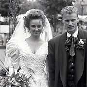 NLD/Bunschoten/19930616 - Huwelijk Dennis Bergkamp en Henrietta Ruizendaal
