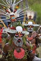 Villagers at Payakona Village singsing ceremony.