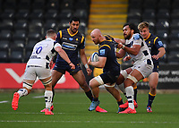 Rugby Union - 2019 / 2020 Gallagher Premiership - Worcester Warriors vs Bristol Bears<br /> <br /> Worcester Warriors' Matt Kvesic is tackled by Bristol Bears' Steven Luatua, at Sixways.<br /> <br /> COLORSPORT/ASHLEY WESTERN