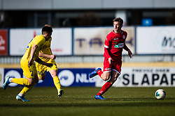 Luka Petek of NK Aluminij during the football match between NK Domzale and NK Aluminij in 25. Round of Prva liga Telekom Slovenije 2019/20, on March 7, 2020 in Sportni park Domzale, Slovenia. Photo by Grega Valancic / Sportida