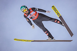 12.01.2019, Stadio del Salto, Predazzo, ITA, FIS Weltcup Skisprung, Val di Fiemme, Herren, 1. Wertungsdurchgang, im Bild Michael Hayboeck (AUT) // Michael Hayboeck of Austria during his 1st Competition Jump for the Four Hills Tournament of FIS Ski Jumping World Cup at the Stadio del Salto in Predazzo, Itali on 2019/01/12. EXPA Pictures © 2019, PhotoCredit: EXPA/ JFK