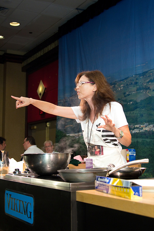 Maria Liberati performs a culinary demonstration at the Atlantic City Food & Wine Festival.