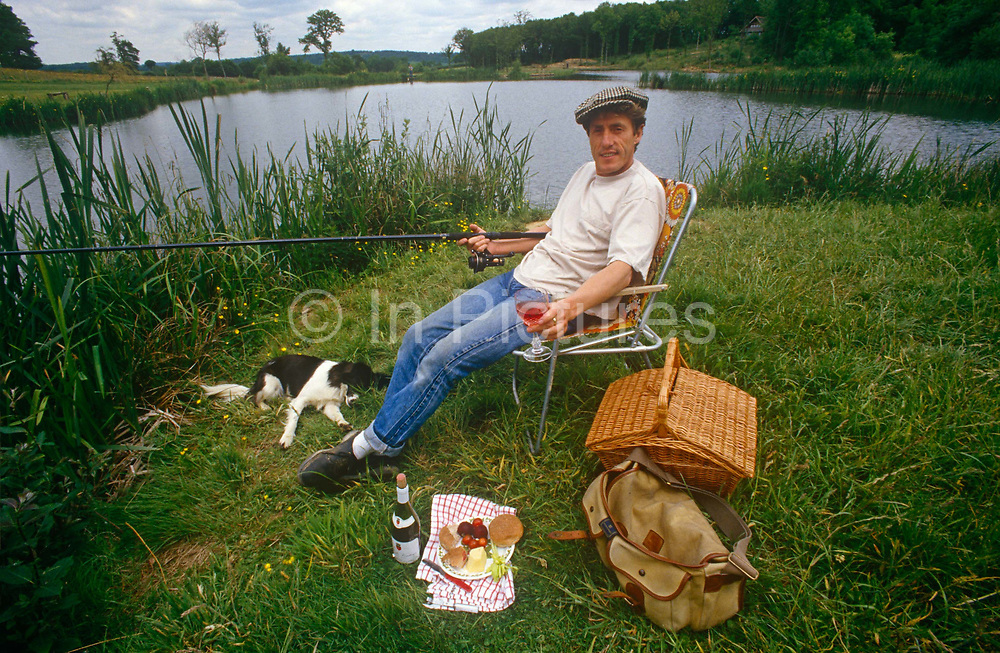 A portrait of English singer and musician, Roger Daltrey relaxing at the waters edge at the trout farm he developed, in the summer of 1989, near Burwash, England. Roger Harry Daltrey, CBE b1944 is an English singer-songwriter and actor. In a career spanning more than 50 years, Daltrey came to prominence in the mid-1960s as the founder and lead singer of the English rock band The Who, which released fourteen singles that entered the Top 10 charts in the United Kingdom during the 1960s, 1970s, and 1980s.