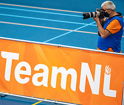 Photographer Marcel in action in the supercup semifinal between Draisma Dynamo – Active Living Orion on October, 03 2020 in Van der Knaaphal, Ede