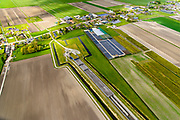 Nederland, Zuid-Holland, Hazerswoude-Dorp, 28-04-2017; Westeinde, Polder de Noordplas, zuidelijke ingang boortunnel HSL-spoorlijn. De tunnel is ook bekend als tunnel onder het Groene Hart.<br /> Entrance highspeed train tunnel.<br /> luchtfoto (toeslag op standard tarieven);<br /> aerial photo (additional fee required);<br /> copyright foto/photo Siebe Swart