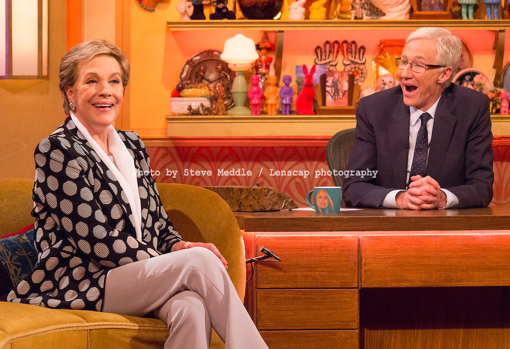 Julie Andrews  / The Paul O'Grady Show Presented by Paul O'Grady with his pet dog Olga / Image Can be licensed for use at www.rexfeatures.com