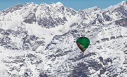 11.02.2015, Zell am See - Kaprun, AUT, BalloonAlps, im Bild ein Heissluftballon vor den Bergkulisse des Steinernen Meeres bei Saalfelden // BalloonAlps, The Alps Crossing Event balloonalps is Austria's international Winter balloon week in front of the backdrop of the Hohe Tauern, Zell am See Kaprun on 2015/02/11, . EXPA Pictures © 2014, PhotoCredit: EXPA/ JFK
