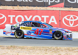 June 22, 2018 - Sonoma, CA, U.S. - SONOMA, CA - JUNE 22:  AJ Allmendinger, driving the #(47) Chevrolet for JTG Daugherty Racing going through the paces in the first practice session on Friday, June 22, 2018 at the Toyota/Save Mart 350 Practice day at Sonoma Raceway, Sonoma, CA (Photo by Douglas Stringer/Icon Sportswire) (Credit Image: © Douglas Stringer/Icon SMI via ZUMA Press)