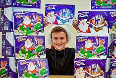 Schoolboy donates over a hundred selection boxes to foodbank, Glasgow 12 December 2018